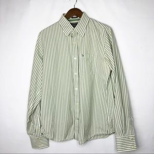 ABERCROMBIE & FITCH Muscle Fit Striped Shirt in XL